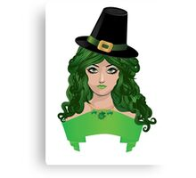 Leprechaun girl 4 Canvas Print