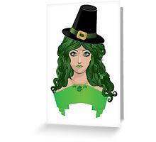 Leprechaun girl 4 Greeting Card