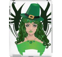 Leprechaun girl 5 iPad Case/Skin