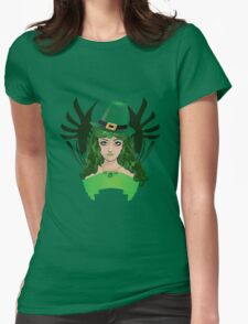 Leprechaun girl 5 Womens Fitted T-Shirt