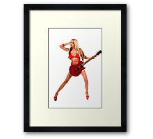 She Wants To RAWK! Framed Print
