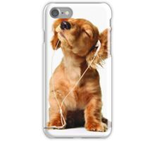 Dog headphones iPhone Case/Skin