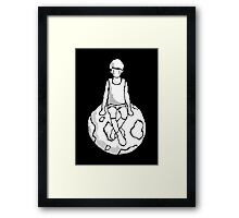 on top of the dark world Framed Print