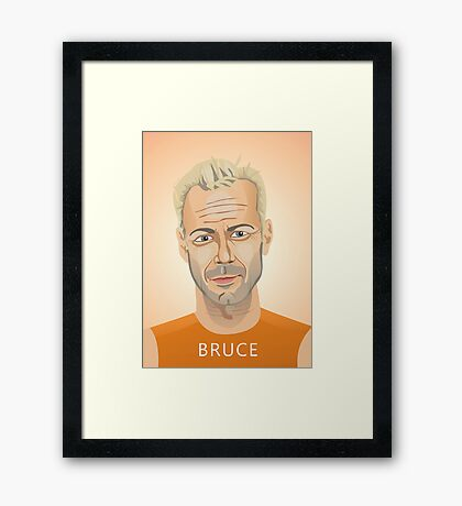 Bruce Willis, Hollywood star in The Fifth Element  Framed Print