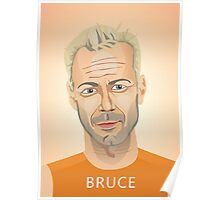 Bruce Willis, Hollywood star in The Fifth Element  Poster