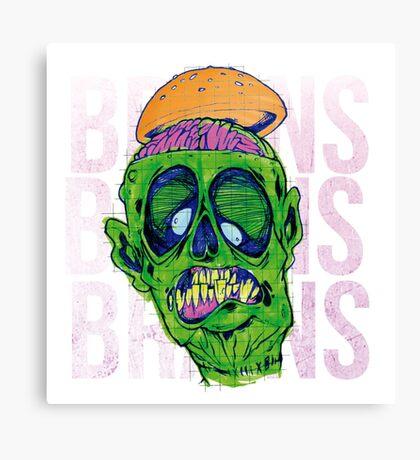 Brains Brains Brains Canvas Print
