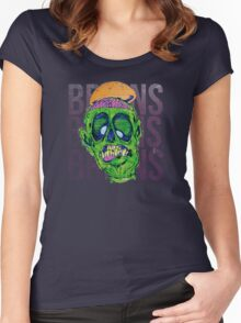 Brains Brains Brains Women's Fitted Scoop T-Shirt