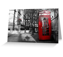 Phone box Greeting Card