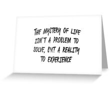 The Mystery of Life - Dune Greeting Card