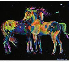 Medicine Ponies Photographic Print