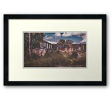 Forgotten Abattoir, Taihape Framed Print