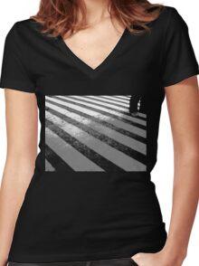 The Platform  Women's Fitted V-Neck T-Shirt