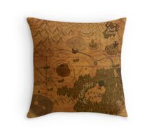 Hyrule Map: Antique style map of Hyrule (OoT) Throw Pillow