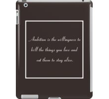 30 Rock Inspired Brown TV Show Jack Donaghy Quote  iPad Case/Skin