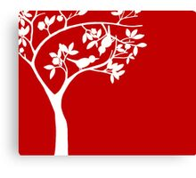 The Love Birds - red Canvas Print