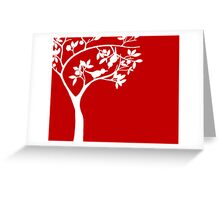 The Love Birds - red Greeting Card