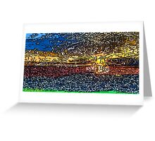 Picture 2015058 Justin Beck Sunset bay Greeting Card