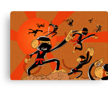 Attack of the 10 Ninja Monkey Fury Showdown! Canvas Print