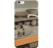 Pottery Studio Shelf iPhone Case/Skin