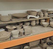 Pottery Studio Shelf by CreativeEm