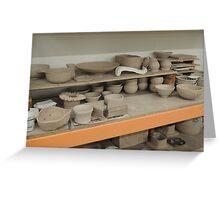 Pottery Studio Shelf Greeting Card