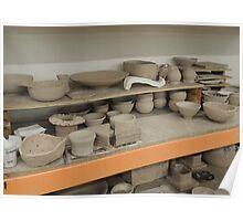 Pottery Studio Shelf Poster