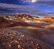 Breakaways Sunset -South Aust. by Albert Sulzer
