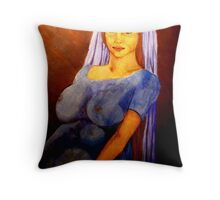 Virgin Mary with Child Throw Pillow