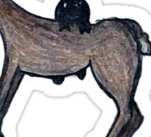 Evil Radish Rides Reindeer Sticker