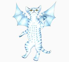 Batty Blue Kitty Unisex T-Shirt