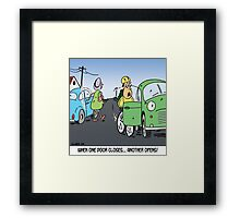 when one door closes, another opens Framed Print