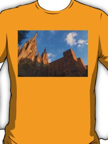 Warm Glow Cathedral - Impressions Of Barcelona T-Shirt