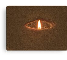Candle Rim Canvas Print
