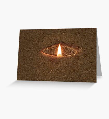 Candle Rim Greeting Card