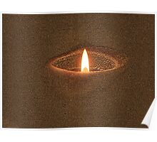 Candle Rim Poster