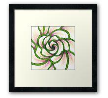 Flower Whirlpool Framed Print