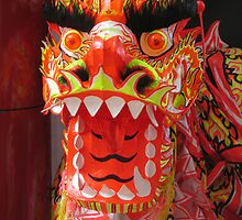 Chinese Dragon front on by Marilyn Baldey