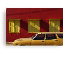 Red wall, Kuala Pilah Canvas Print