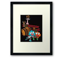 Donkey Simian. Framed Print