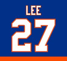 New York Islanders Anders Lee Jersey Back Phone Case by Russ Jericho
