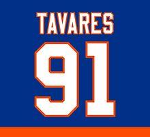 New York Islanders John Tavares Jersey Back Phone Case by Russ Jericho