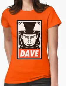 Dave. Womens Fitted T-Shirt