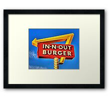 IN-N-OUT BURGER  Framed Print