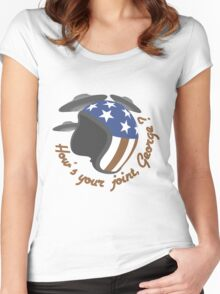 How's your joint, George ? Women's Fitted Scoop T-Shirt