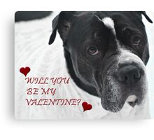 WILL YOU BE MY VALENTINE? FROM SNOOPY Canvas Print