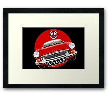 MGB chrome bumper red Framed Print