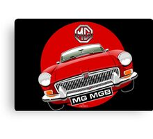 MGB chrome bumper red Canvas Print