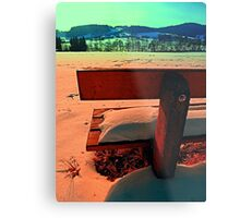 Enjoy the winter sun on a bench | landscape photography Metal Print