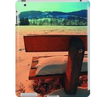 Enjoy the winter sun on a bench | landscape photography iPad Case/Skin