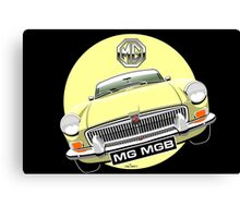 MGB chrome bumper pale yellow Canvas Print